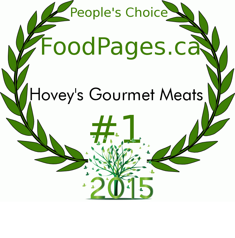Hovey's Gourmet Meats FoodPages.ca 2015 Award Winner