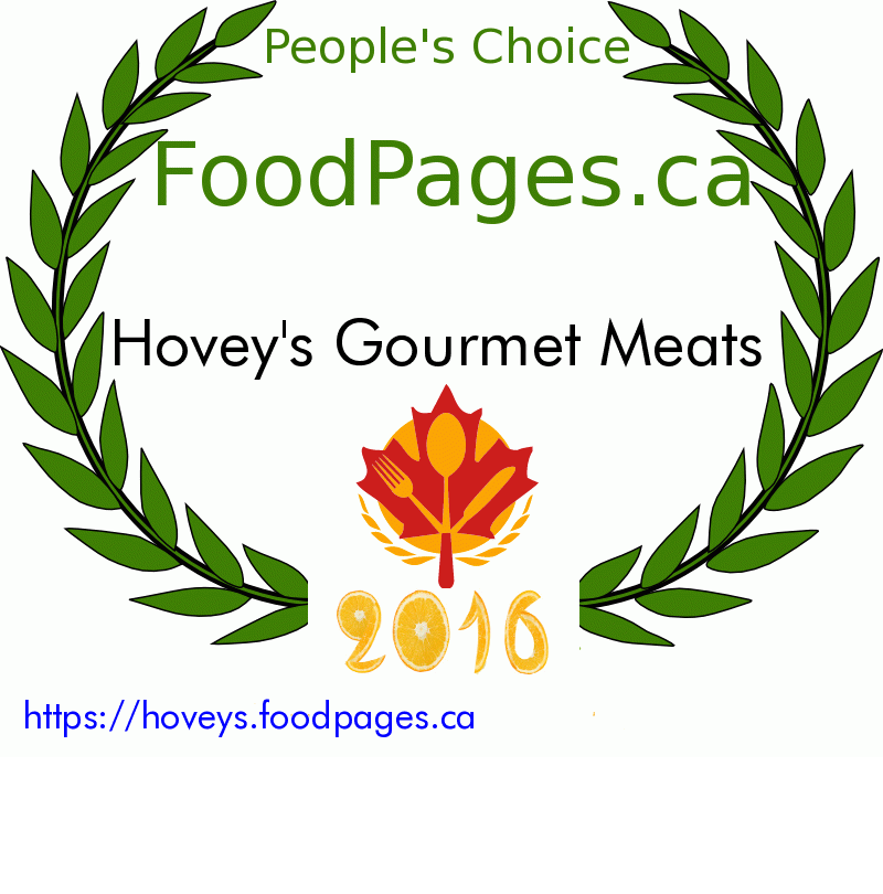 Hovey's Gourmet Meats FoodPages.ca 2016 Award Winner